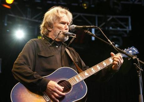 "Kris Kristofferson performs on stage during his concert at the 2008 ""Live at sunset"" festival in Zurich."